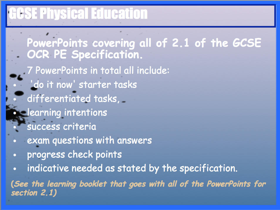 GCSE OCR PE Socio-Cultural Influences (2.1) PowerPoints