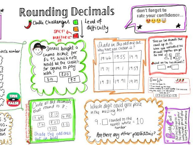 Rounding decimals to nearest whole number