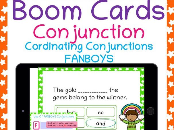Conjunctions (FANBOYS) Boom Cards For Distance Learning
