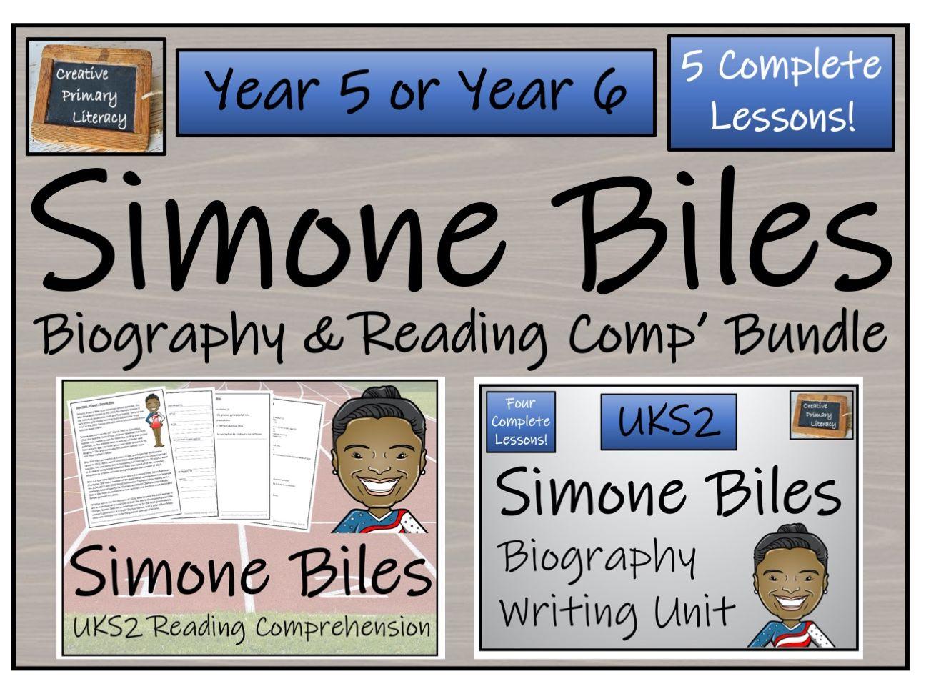 UKS2 Simone Biles Reading Comprehension & Biography Unit Bundle