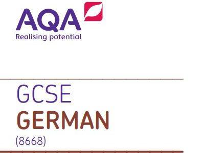 GCSE AQA German Foundation writing practice paper 2 - A REAL TIME SAVER!!!!