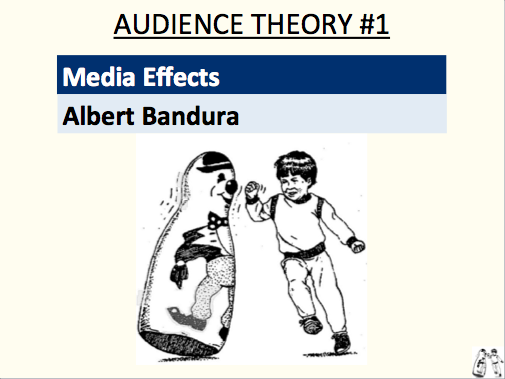 Media Effects - Albert Bandura (audience theory #1)