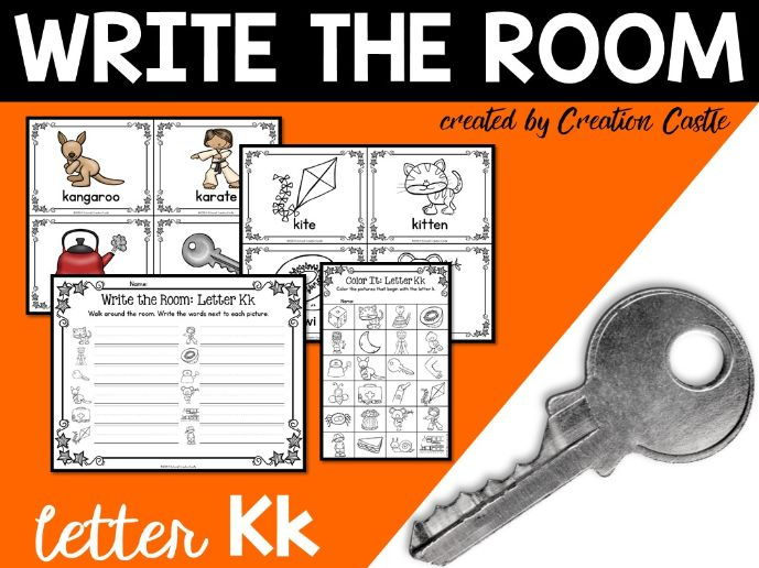 Alphabet Write the Room - Letter K