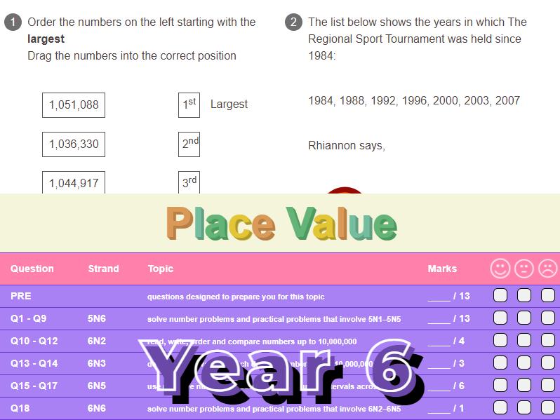 Place Value Worksheet + Answers (KS2 - Year 6)