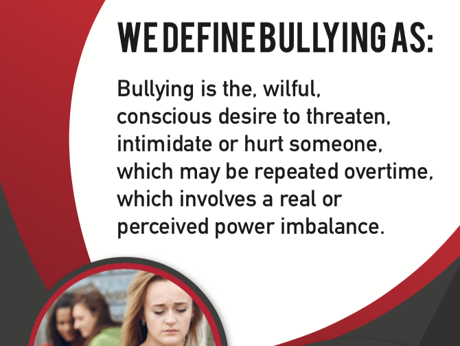 BULLYING POSTER STATEMENT