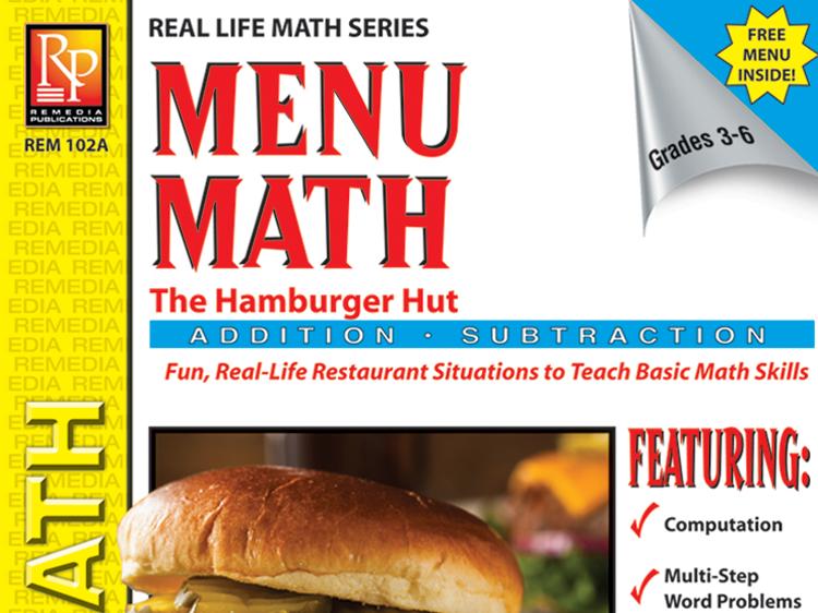 Consumer Addition & Subtraction: Hamburger Hut Menu Math