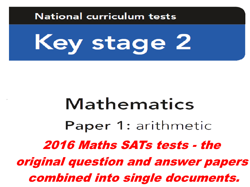 2016 Year 6 Sample SATS Maths Papers - Questions And Answers