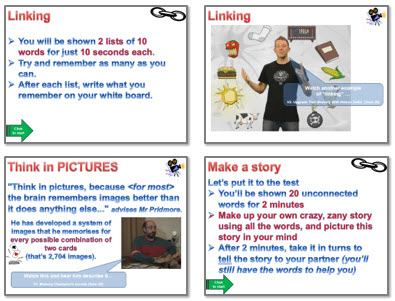 Memory: Strategies 1 - linking and stories