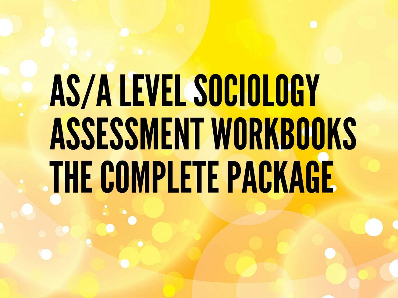 Assessment Workbooks Sociology New Spec