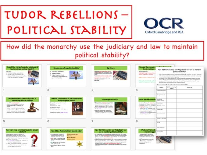 Tudor Rebellion - Political Stability (Law)