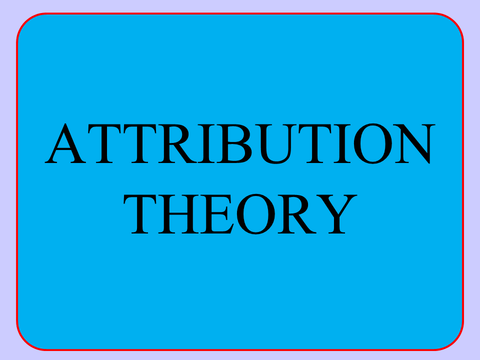 A Level PE (2016): Attribution Theory - Presentation