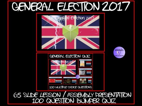 The General Election - Lesson  Assembly Presentation /  Bumper 100 Question Interactive Quiz