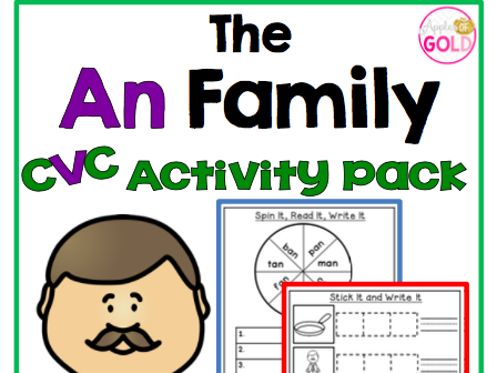 The An Family - CVC Activity Pack