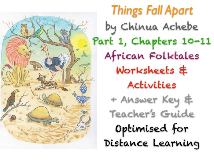 Things Fall Apart (Chinua Achebe) Ch. 10-11 - Folktales - Activities + ANSWERS