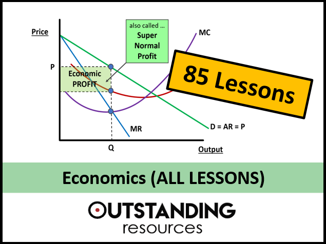 Economics: ALL LESSONS x 85  (Covers the OCR, Edexcel, IGCSE and  A-Level syllabus)