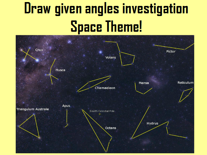 Draw given angles investigation - Space Theme!