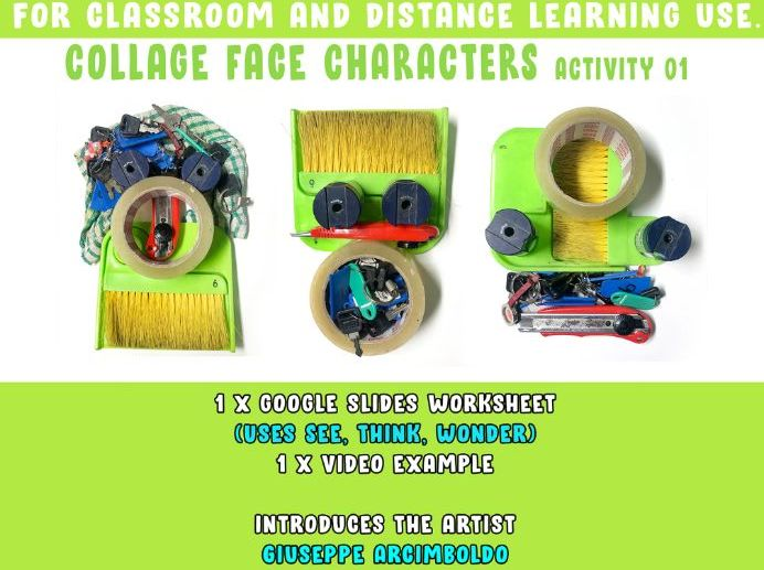 Collage Face Characters Activity [Classroom and Home Learning]