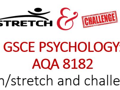 Homework mats/revision mats GCSE Psychology 8182 Cognition & behaviour