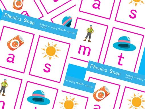 Phonics Snap Simple Sound Game with Pictures | Phonics Resources | EYFS Early Reader