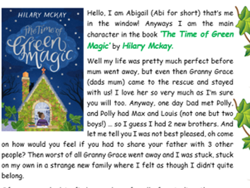 Book Review 'The Time of Green Magic' Hilary Mckay