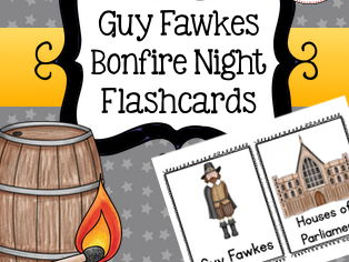 Guy Fawkes Flashcards, Bonfire Night