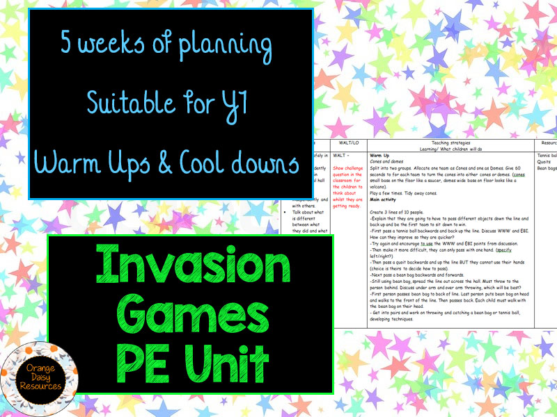 Y1 Invasion Games Planning (5 weeks)