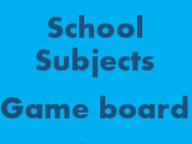 School Subjects Game Board for Smartboard