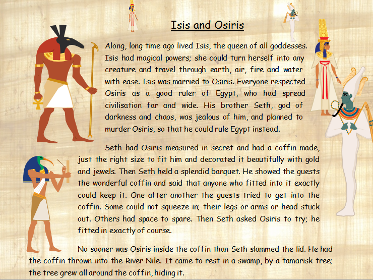 Comprehension of an Ancient Egyptian Myth of Osiris, Isis and Seth