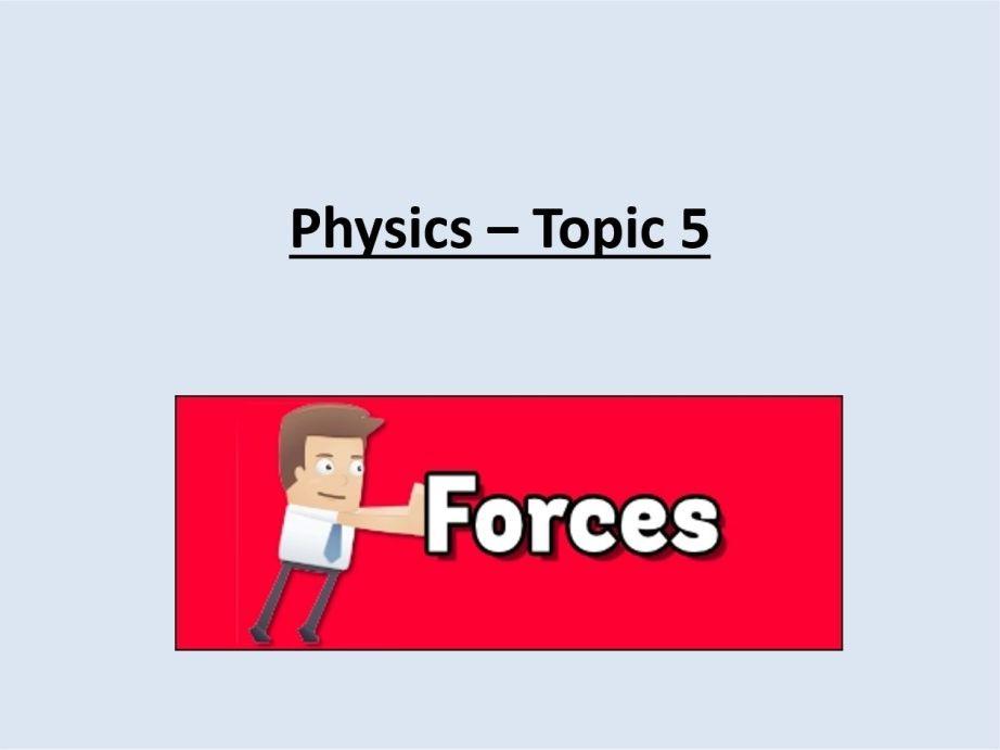 AQA GCSE - FORCES - Lesson 9