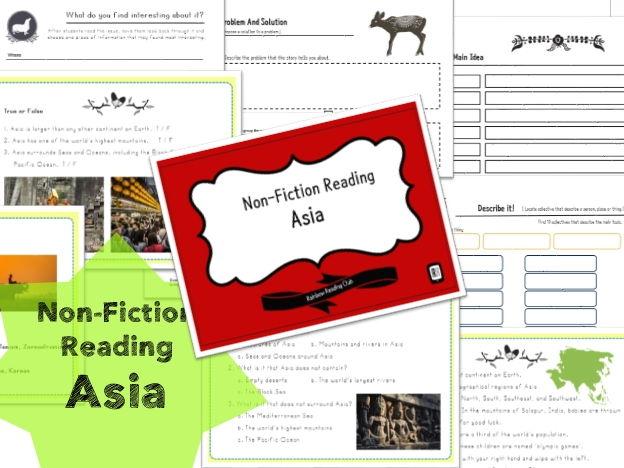 Non-Fiction Reading Worksheet for KS1,2&ESL,EFL class - Asia 3A
