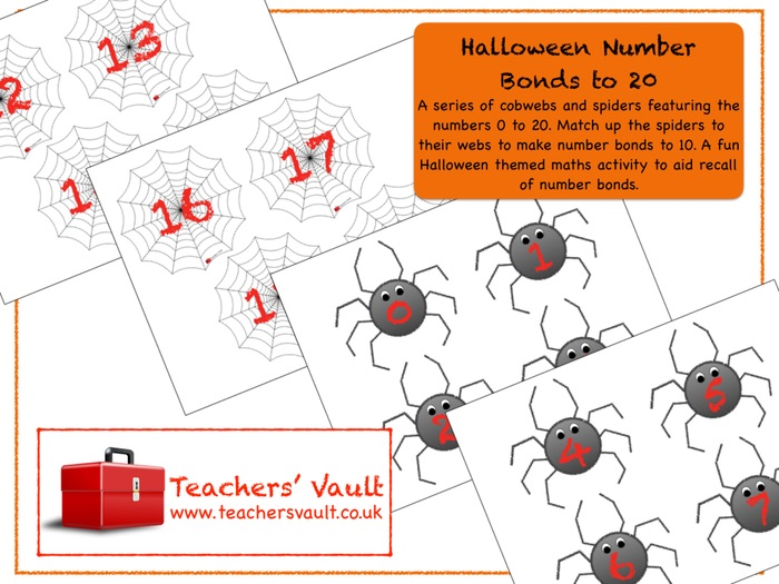 Halloween Number Bonds to 20