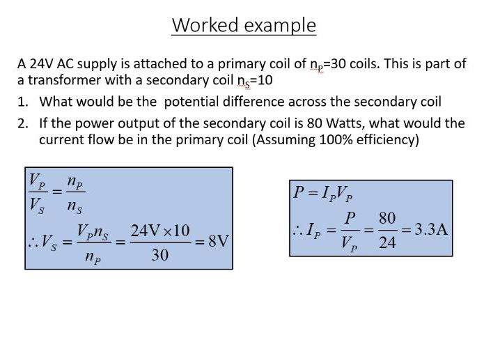 iGCSE Physics - Transformers (PowerPoint and worksheet)