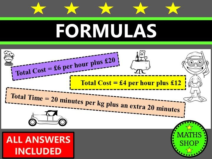 Word Problems Involving Formulas