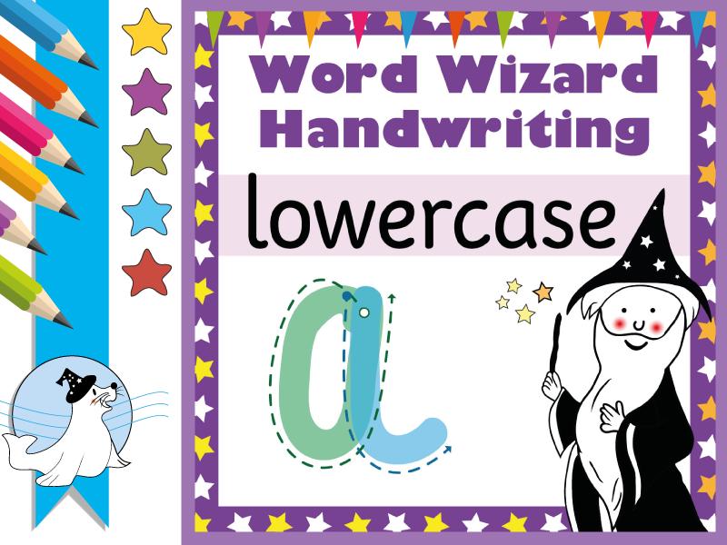 Magic Shapes: Lowercase Print Handwriting Scheme
