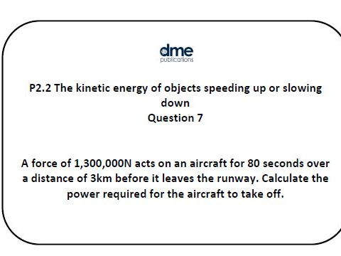 AQA GCSE Additional Science (Physics) Revision Questions P2.2 Kinetic Energy