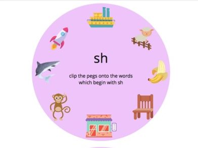 Peg Activity - 'sh' and 'ch'