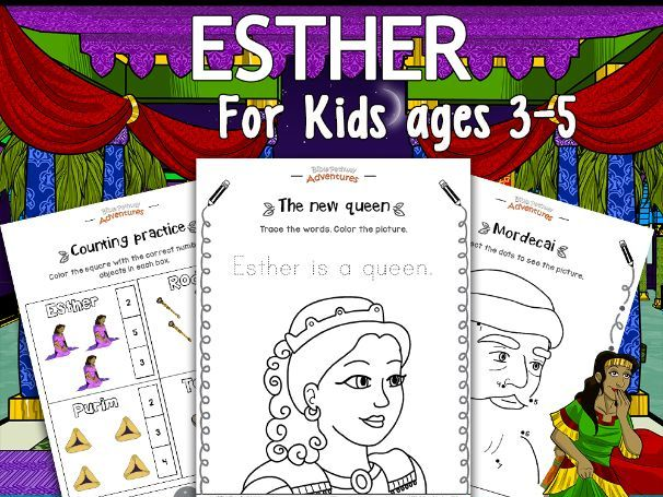 FREEBIE: Esther activity pack for kids ages 3-5