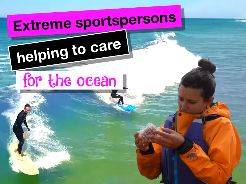 Extreme sports and caring for the ocean