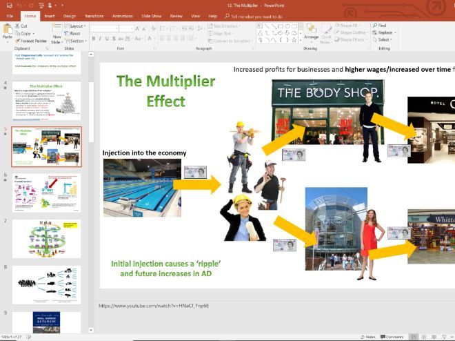 12. Multiplier and Calculations (Slides, Activities and Notes) - Edexcel A-Level Economics - Theme 2