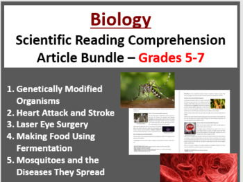 Biology Science Reading Article Bundle - Grade 5-7