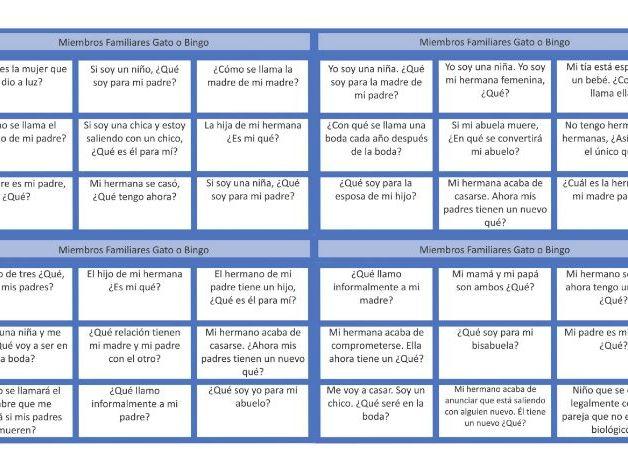 Family Members Spanish Tic-Tac-Toe or Bingo