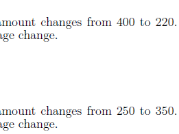Percentage change worksheet (with solutions)