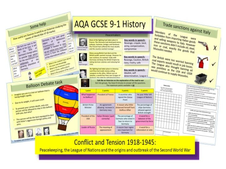 AQA GCSE 9-1 Conflict and Tension 1918-1939