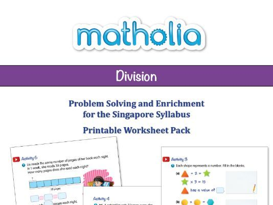 Matholia Problem Solving and Enrichment Year 1 - Division