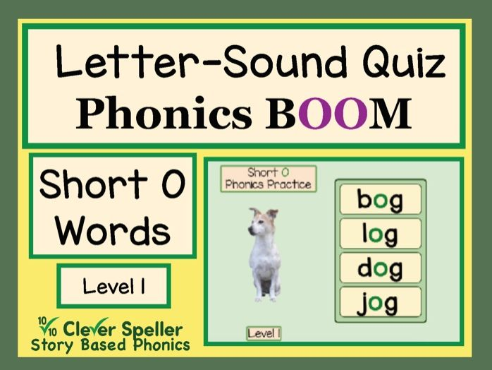 Phonics Practice Boom Cards Short O Words Level 1