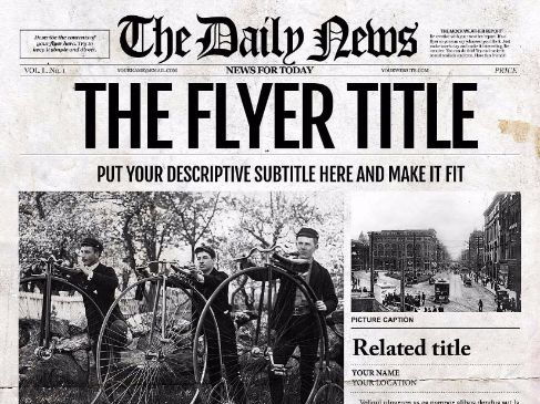 newspaper templates for word photoshop illustrator indd