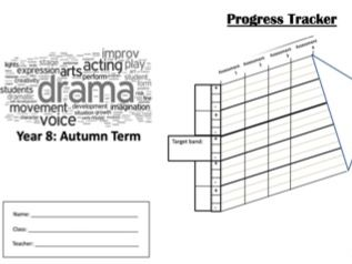 Year 8 Drama workbook. Key Learning and Reflection opportunities.
