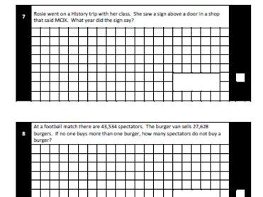 SATs Maths Test Paper Pack