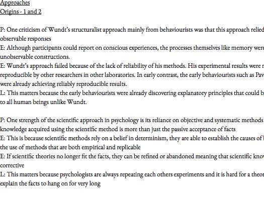 Psychology evaluation booklet for paper 2