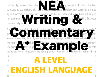 Original Writing and Commentary Example NEA